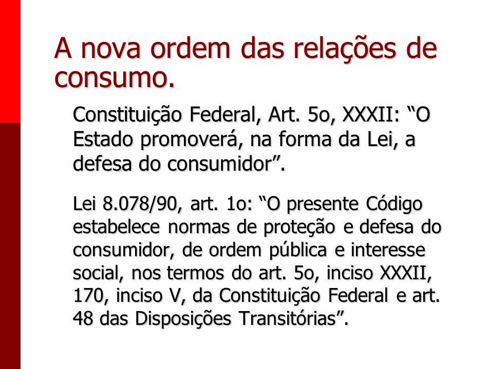 A nova ordem das relações de consumo.