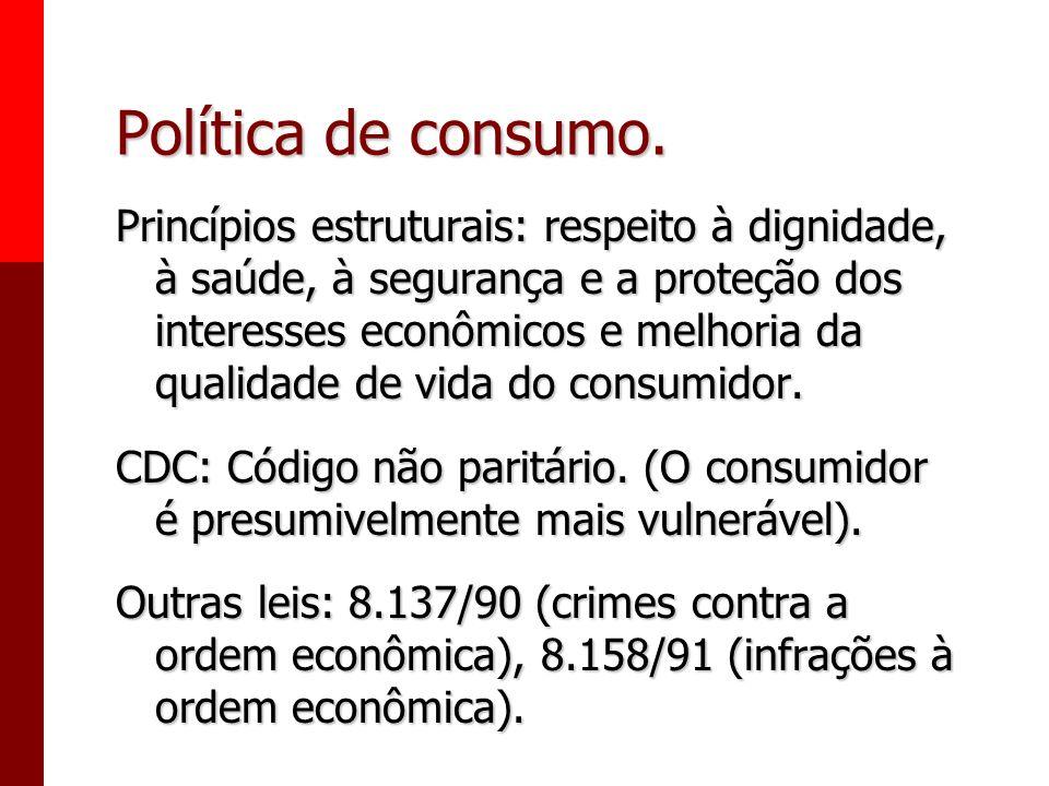 Política de consumo.