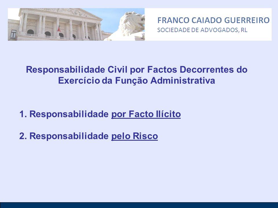 1. Responsabilidade por Facto Ilícito 2. Responsabilidade pelo Risco