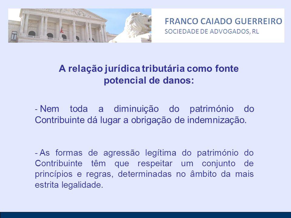A relação jurídica tributária como fonte potencial de danos: