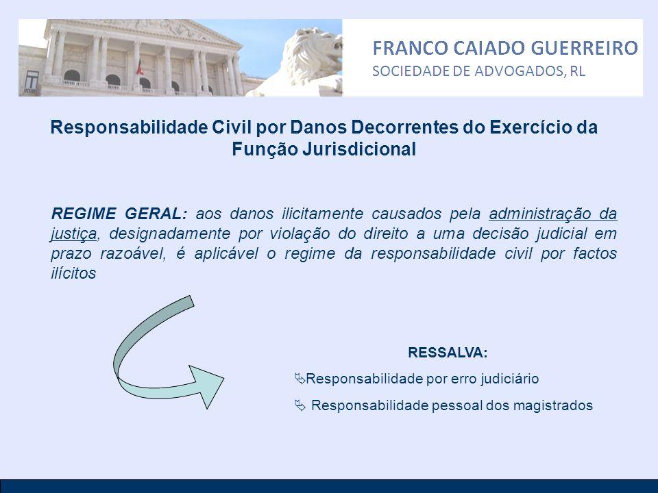 Responsabilidade Civil por Danos Decorrentes do Exercício da Função Jurisdicional