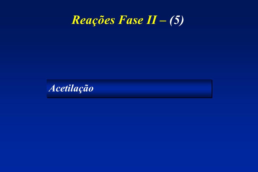 Reações Fase II – (5) Acetilação