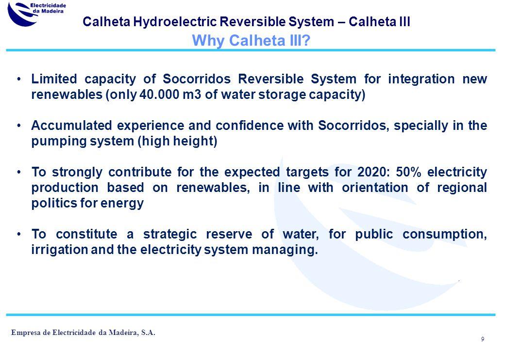 Calheta Hydroelectric Reversible System – Calheta III