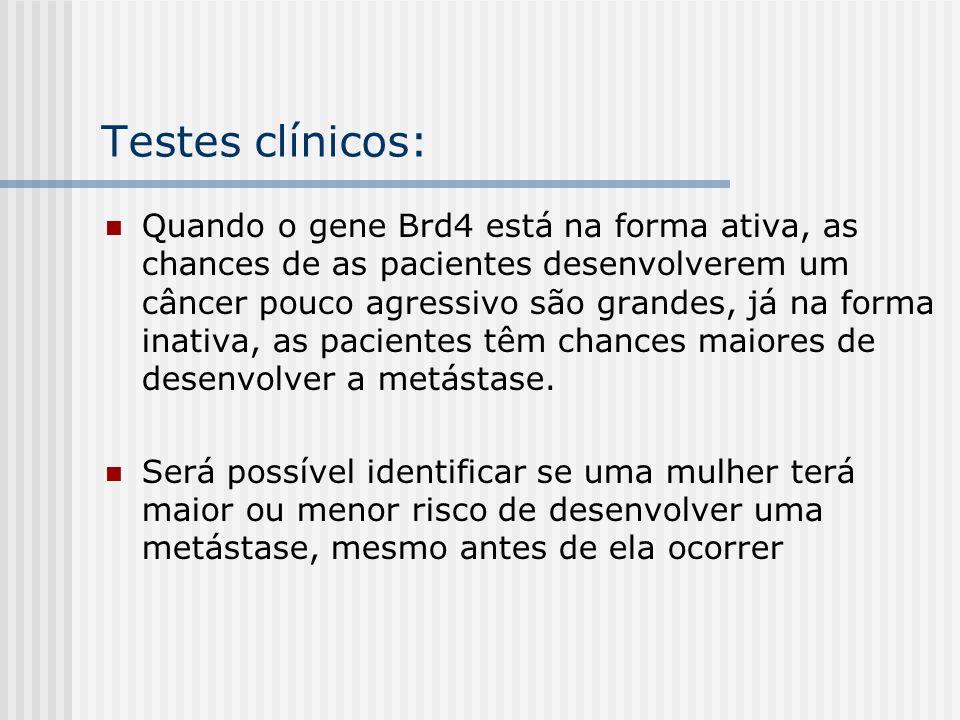 Testes clínicos: