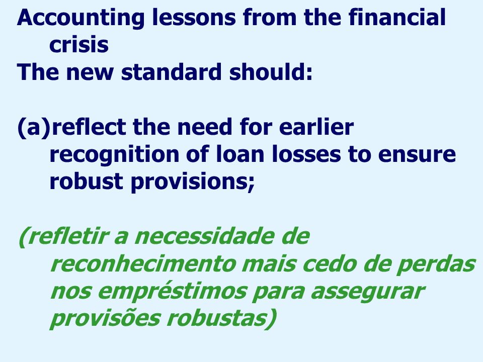 Accounting lessons from the financial crisis