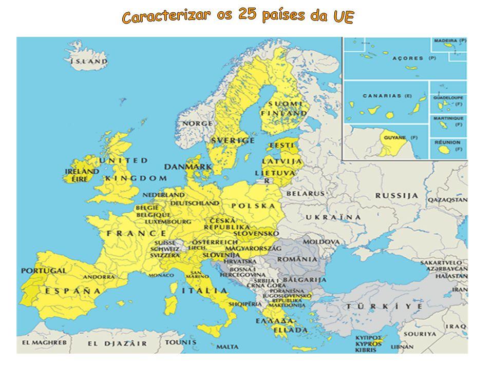 Caracterizar os 25 países da UE