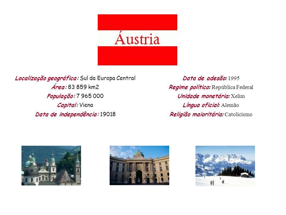 Localização geográfica: Sul da Europa Central Área: 83 859 km2