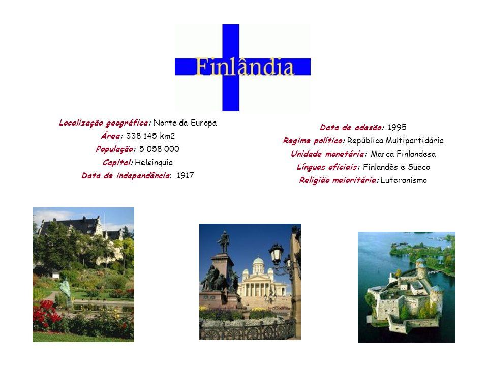 Localização geográfica: Norte da Europa Área: 338 145 km2