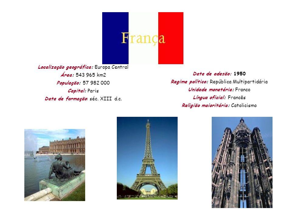 Localização geográfica: Europa Central Área: 543 965 km2