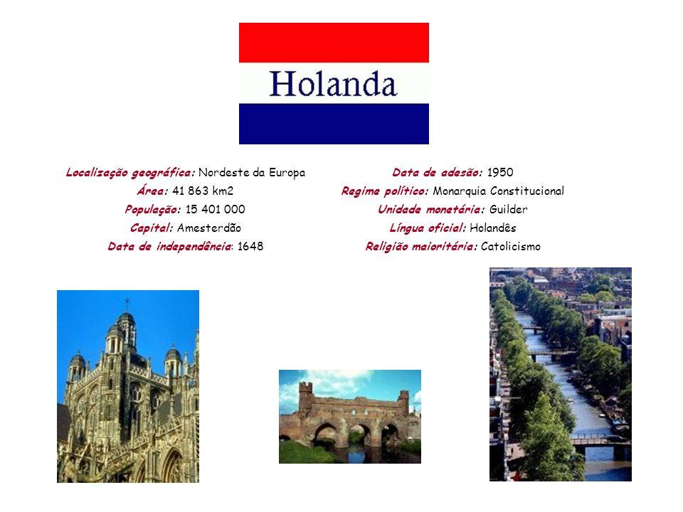 Localização geográfica: Nordeste da Europa Área: 41 863 km2