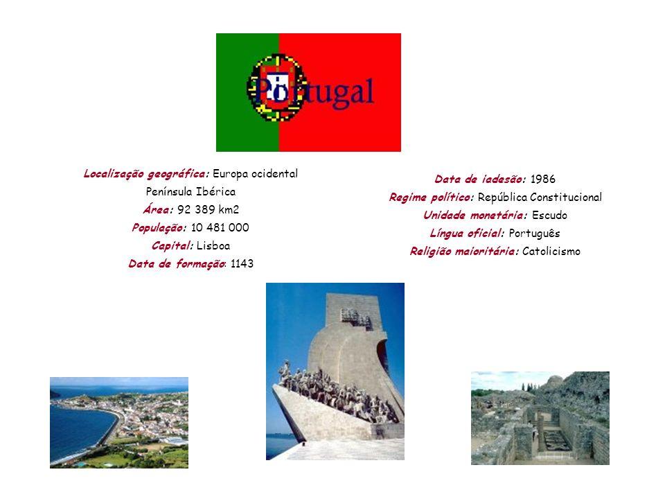 Localização geográfica: Europa ocidental Península Ibérica