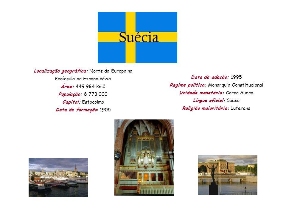 Localização geográfica: Norte da Europa na Península da Escandinávia