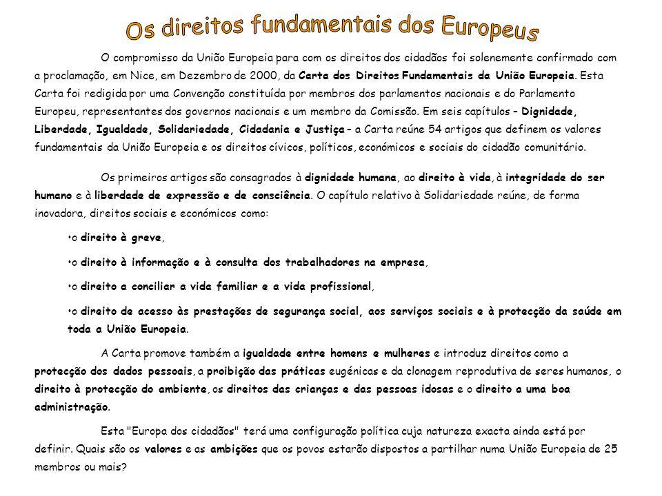 Os direitos fundamentais dos Europeus