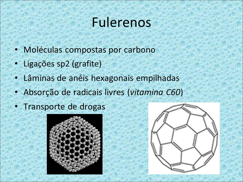 Fulerenos Moléculas compostas por carbono