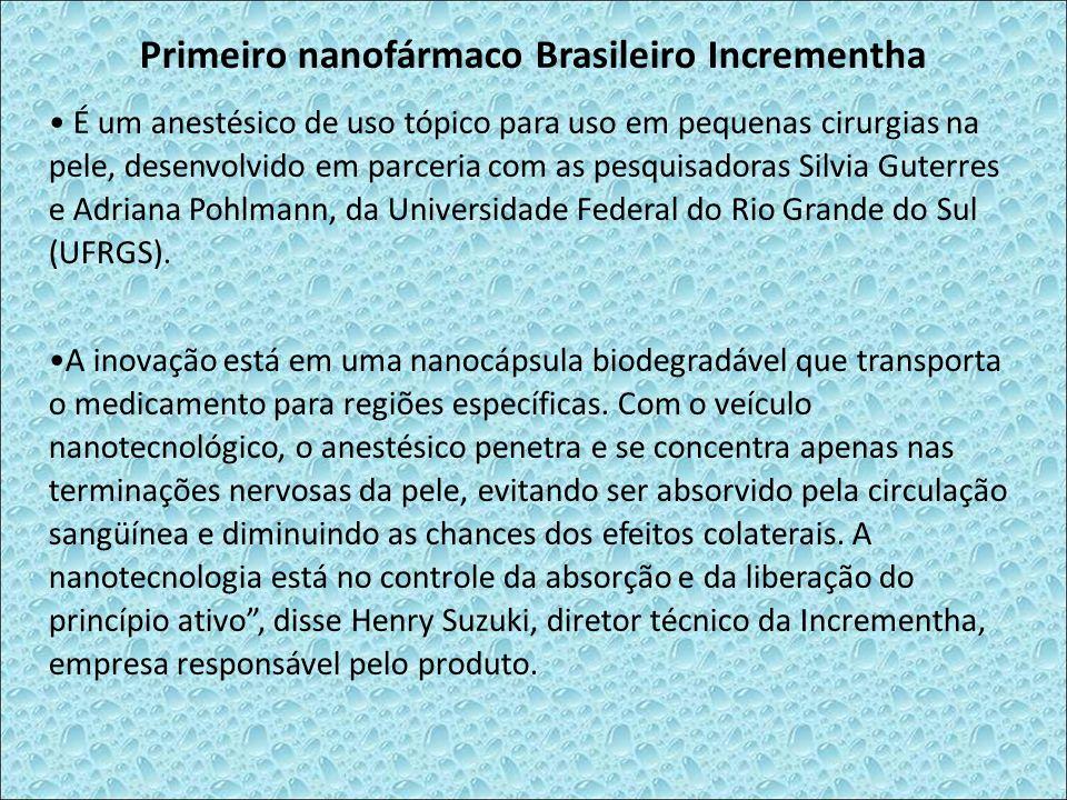 Primeiro nanofármaco Brasileiro Incrementha