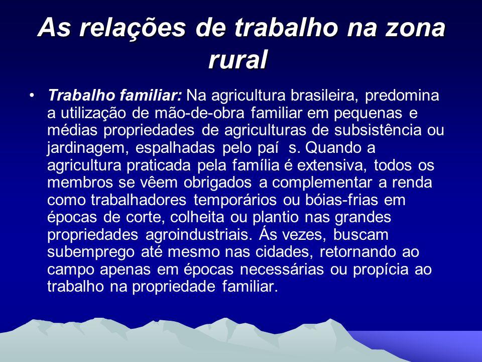 As relações de trabalho na zona rural