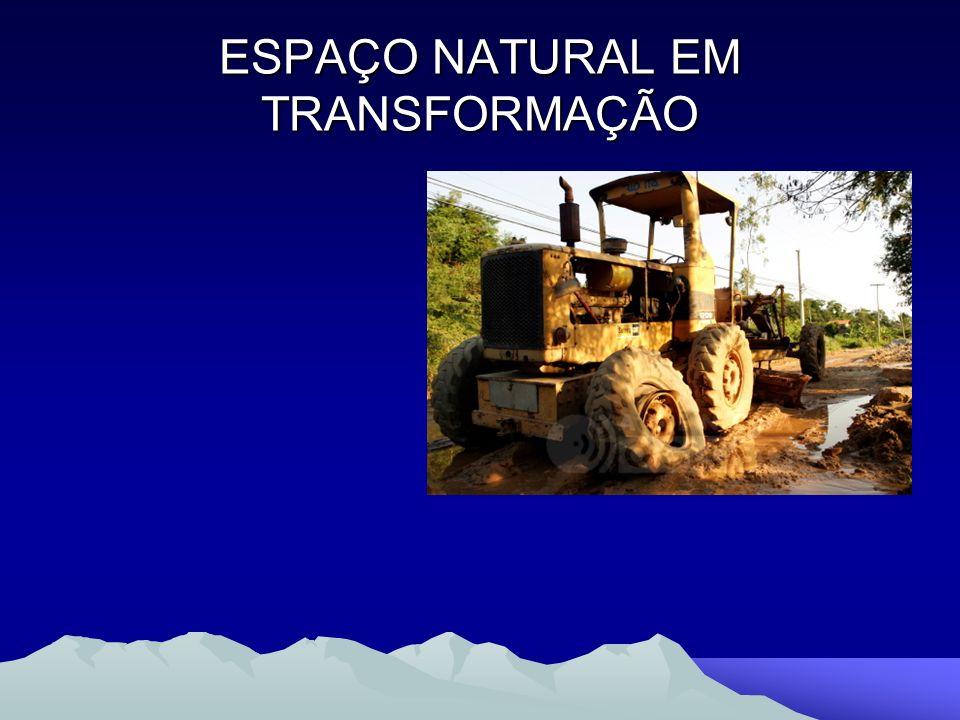 ESPAÇO NATURAL EM TRANSFORMAÇÃO