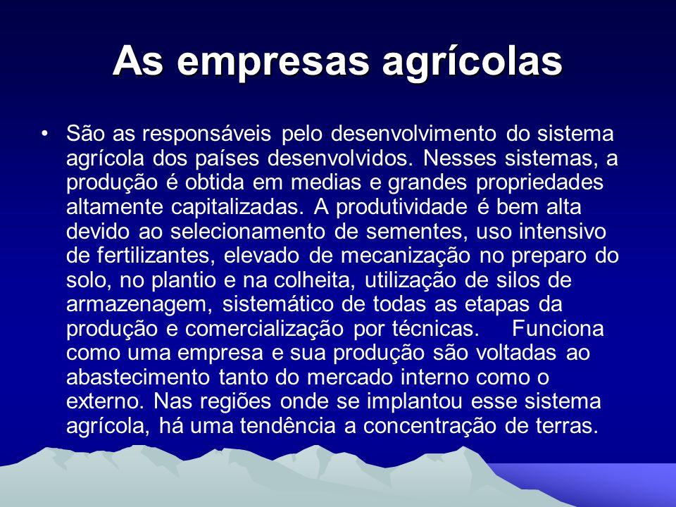 As empresas agrícolas