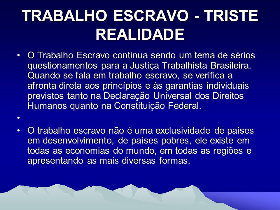 TRABALHO ESCRAVO - TRISTE REALIDADE