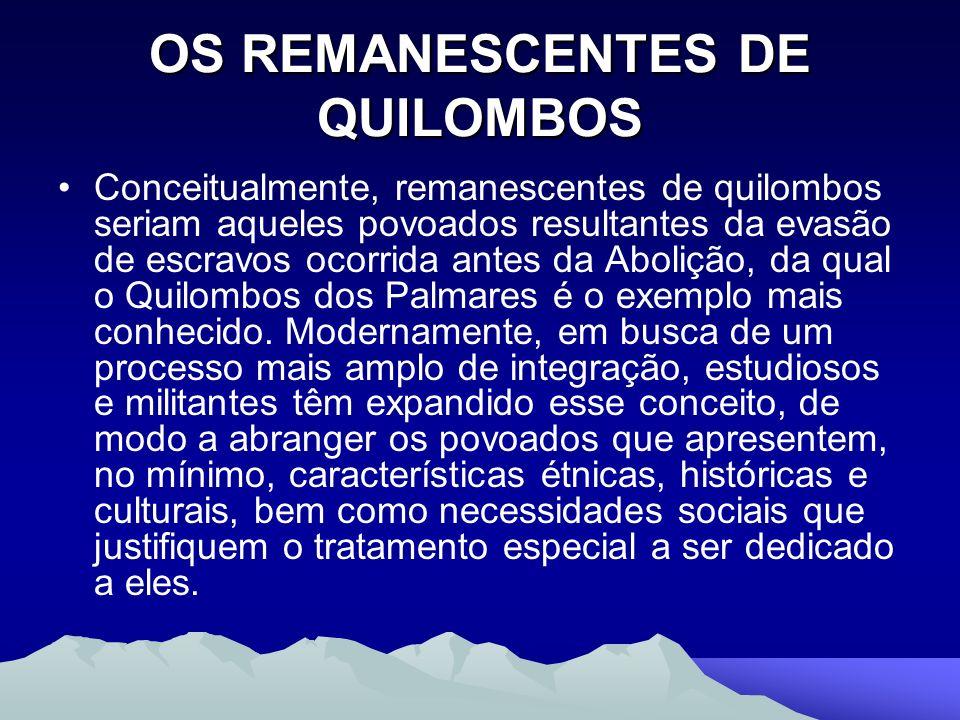 OS REMANESCENTES DE QUILOMBOS