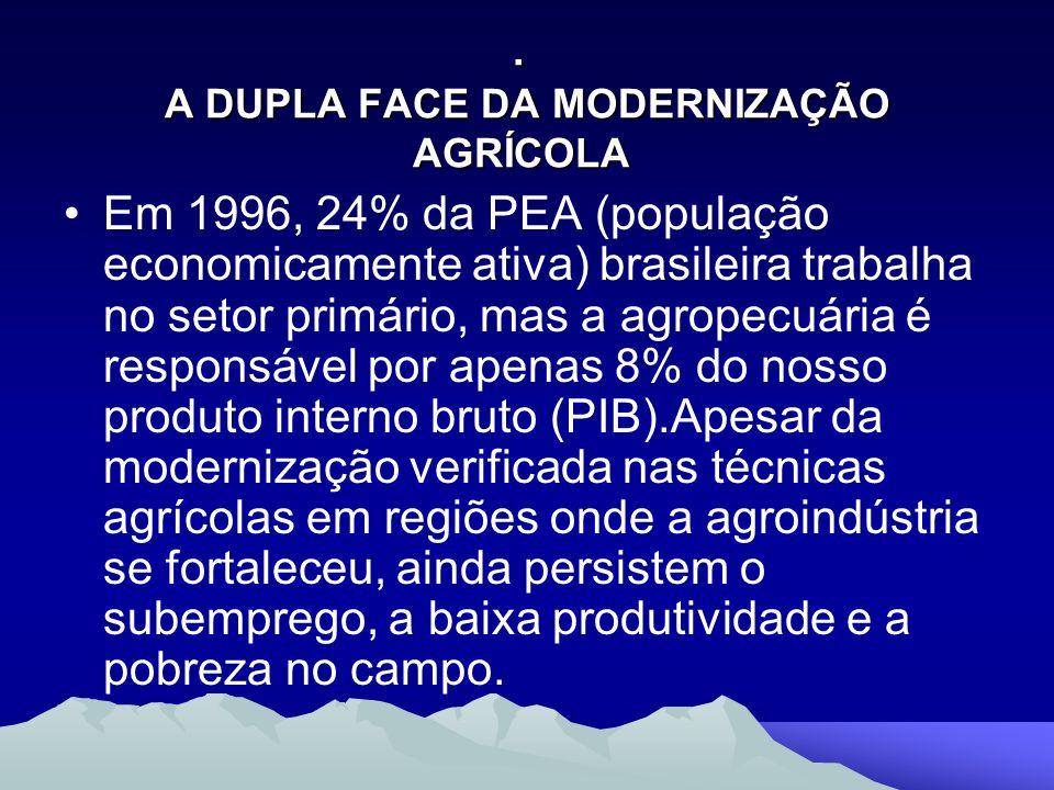 . A DUPLA FACE DA MODERNIZAÇÃO AGRÍCOLA