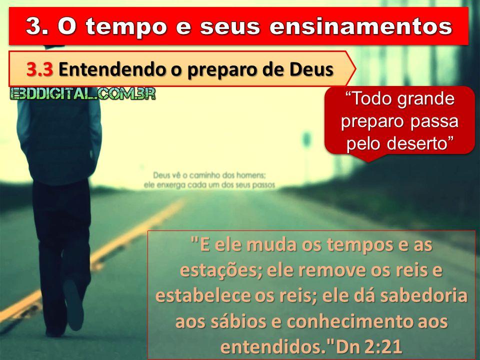 3.3 Entendendo o preparo de Deus
