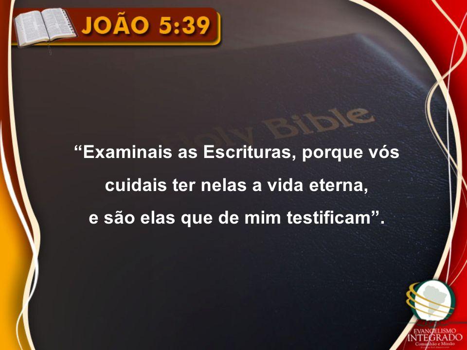 Examinais as Escrituras, porque vós cuidais ter nelas a vida eterna,