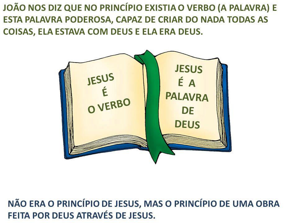 JESUS É A PALAVRA DE DEUS JESUS É O VERBO