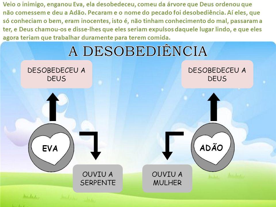 A DESOBEDIÊNCIA EVA ADÃO