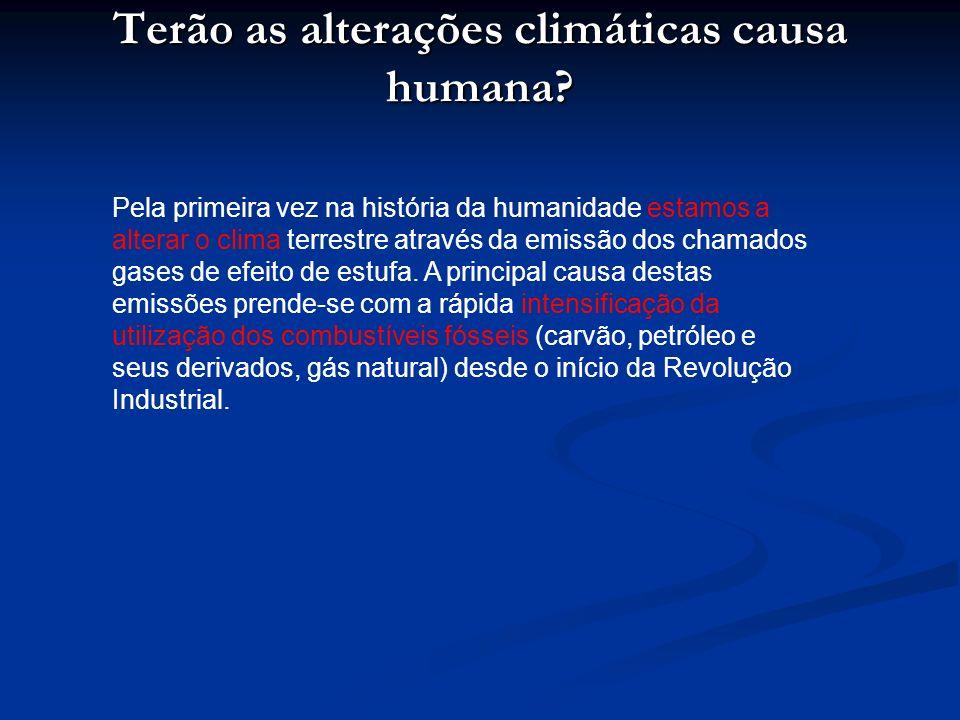 Terão as alterações climáticas causa humana