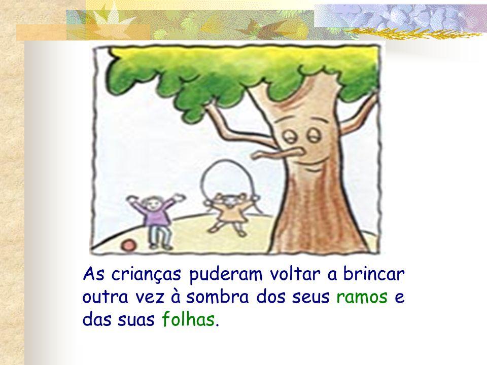 As crianças puderam voltar a brincar outra vez à sombra dos seus ramos e das suas folhas.