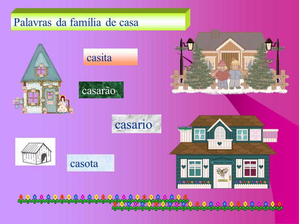 Palavras da família de casa