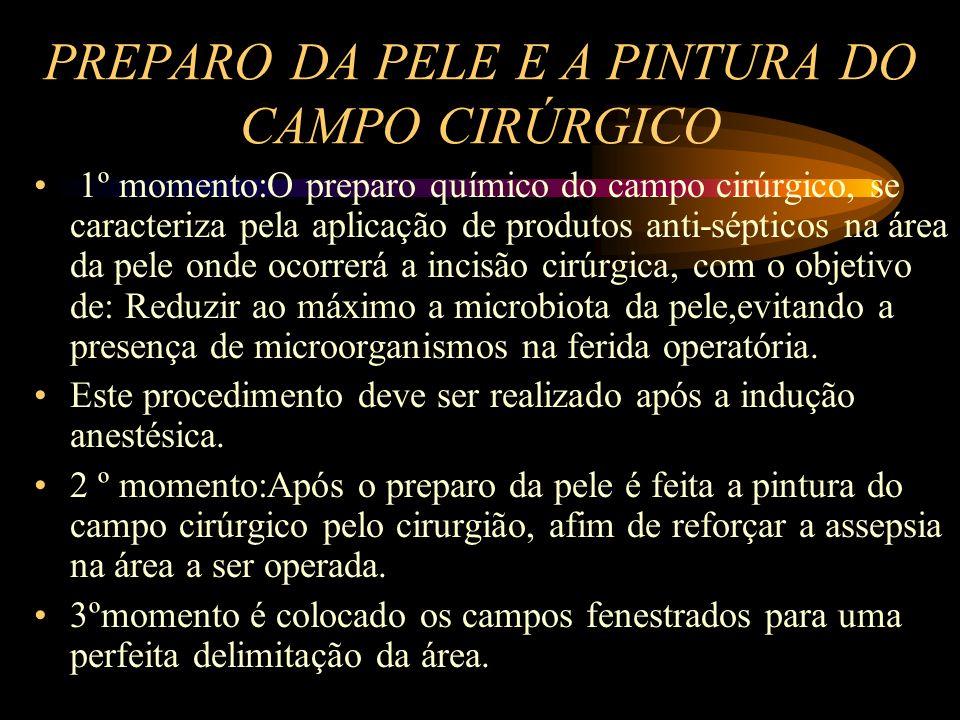 PREPARO DA PELE E A PINTURA DO CAMPO CIRÚRGICO