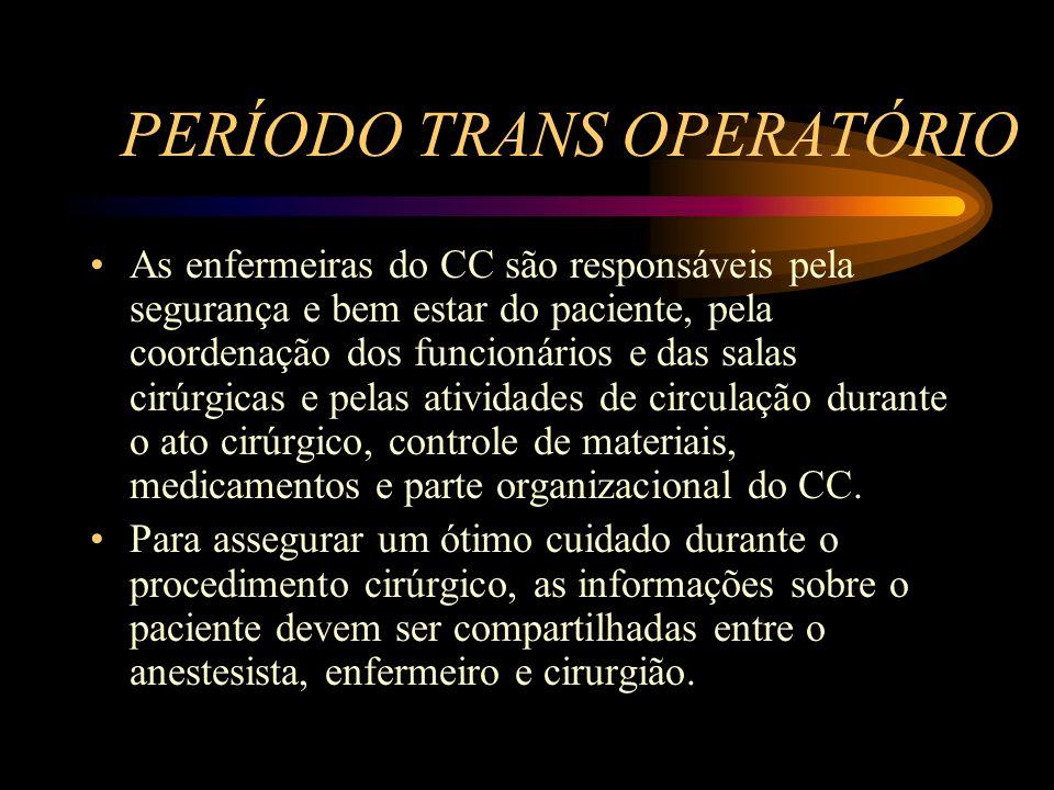 PERÍODO TRANS OPERATÓRIO