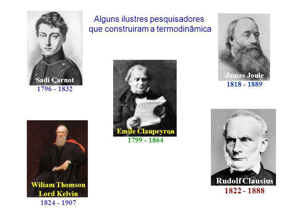 Alguns ilustres pesquisadores que construiram a termodinâmica