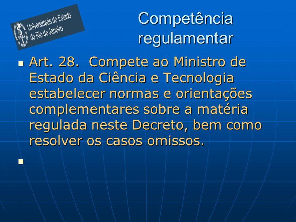 Competência regulamentar