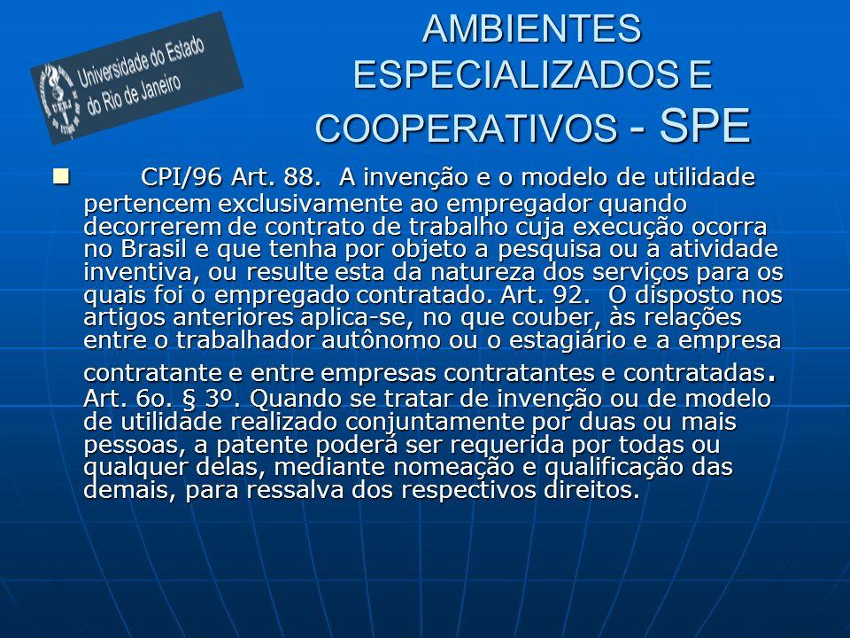 AMBIENTES ESPECIALIZADOS E COOPERATIVOS - SPE