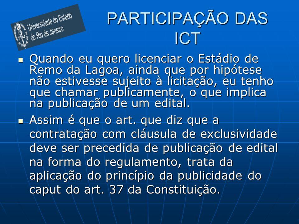 PARTICIPAÇÃO DAS ICT