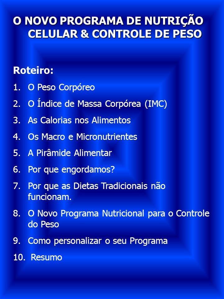 O NOVO PROGRAMA DE NUTRIÇÃO CELULAR & CONTROLE DE PESO