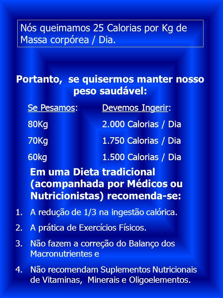 Portanto, se quisermos manter nosso peso saudável: