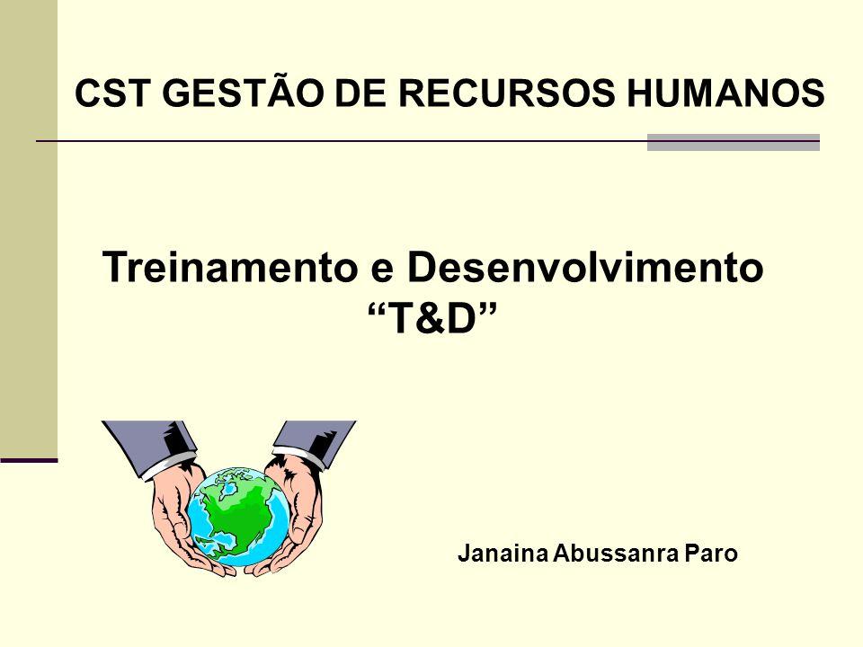 Treinamento e Desenvolvimento T&D