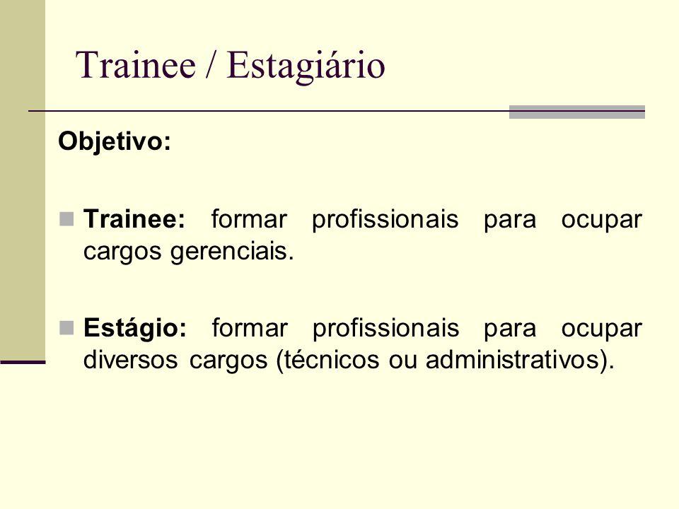 Trainee / Estagiário Objetivo: