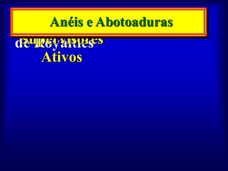 120 Supervisores Ativos 15.000 Pontos de Royalties Anéis e Abotoaduras