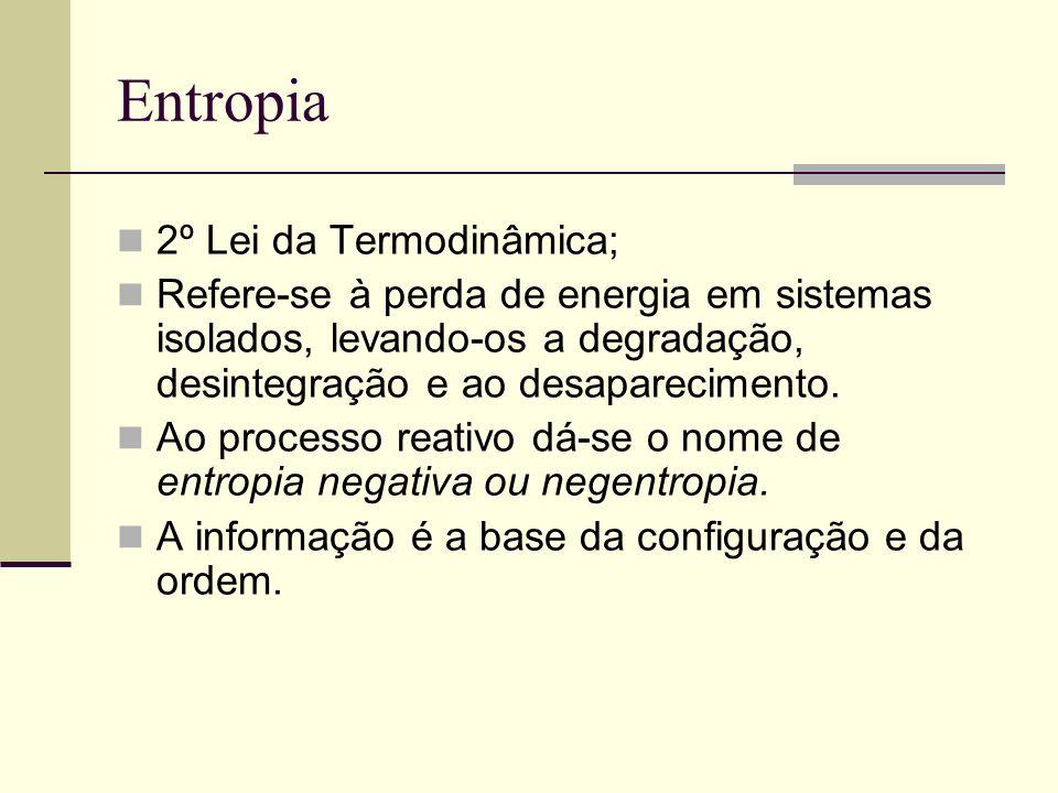 Entropia 2º Lei da Termodinâmica;