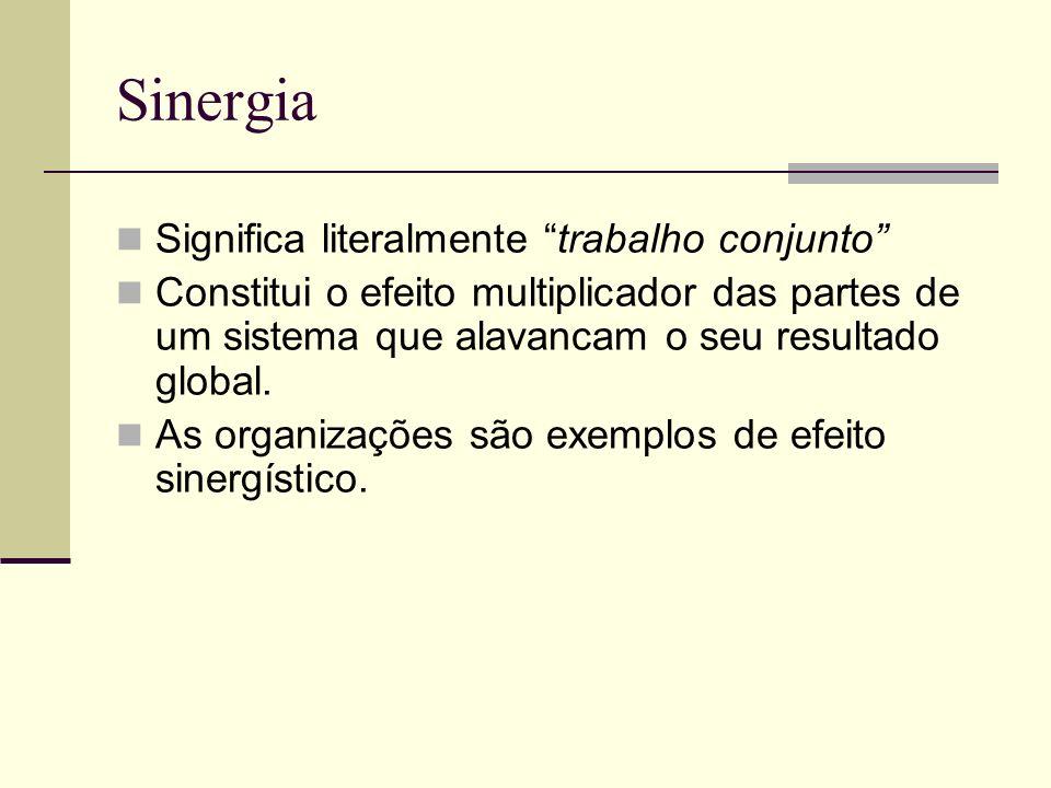 Sinergia Significa literalmente trabalho conjunto