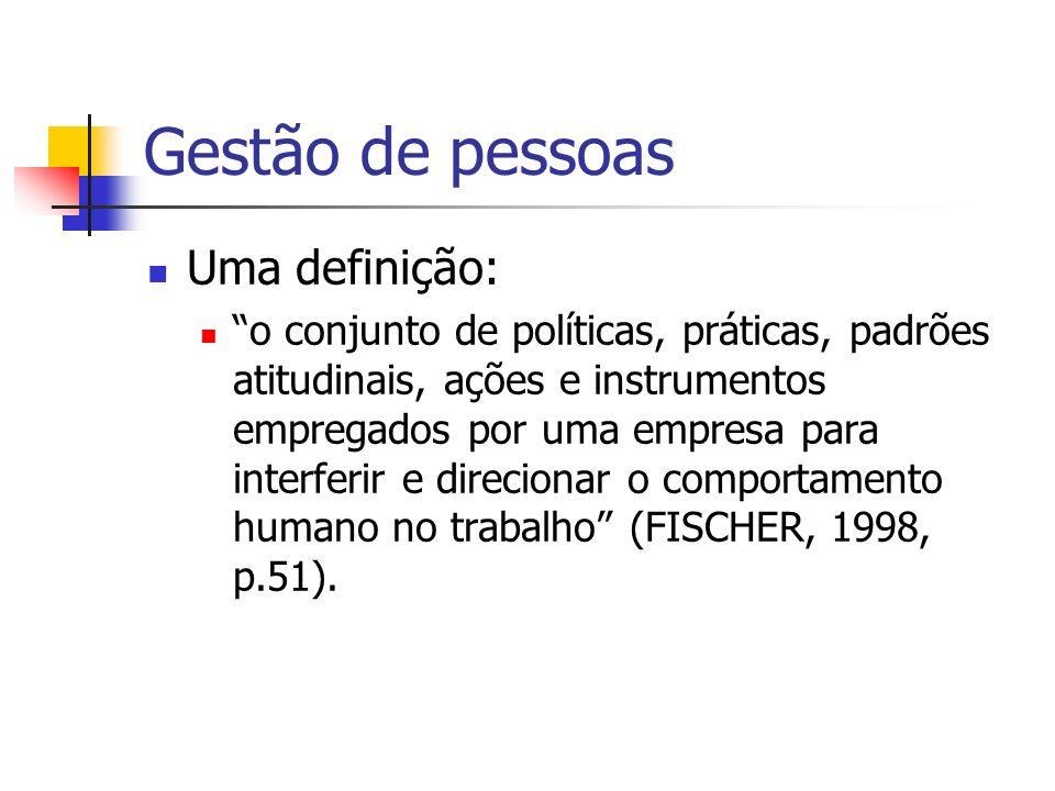 Gestão de pessoas Uma definição: