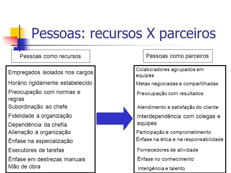 Pessoas: recursos X parceiros