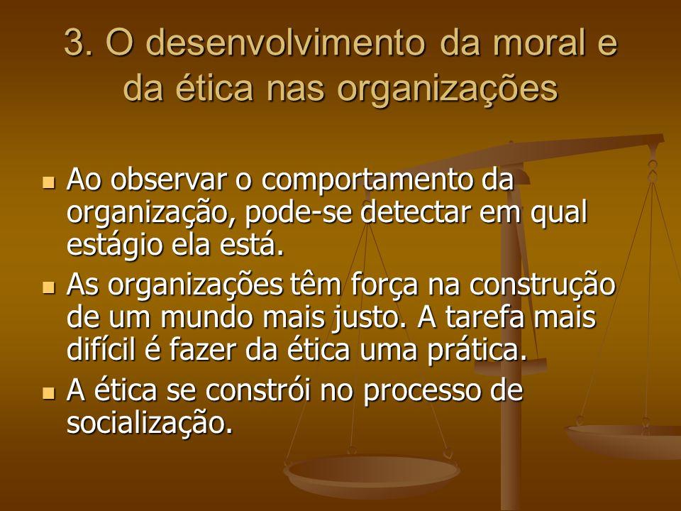 3. O desenvolvimento da moral e da ética nas organizações