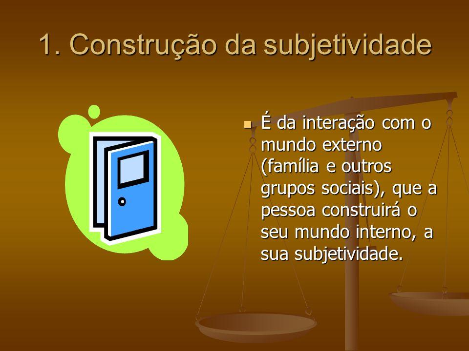 1. Construção da subjetividade