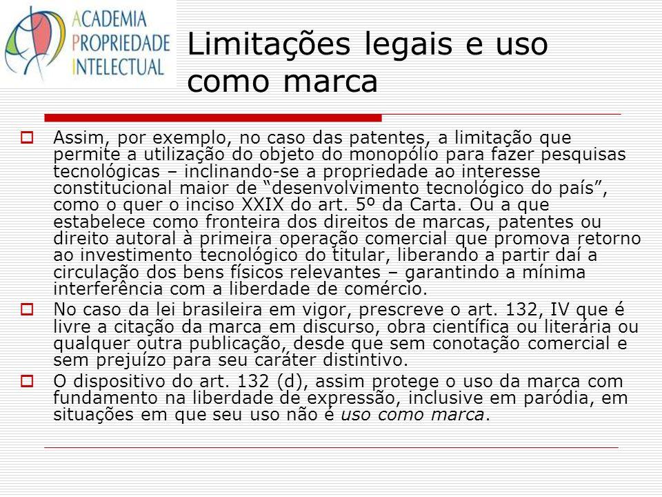 Limitações legais e uso como marca